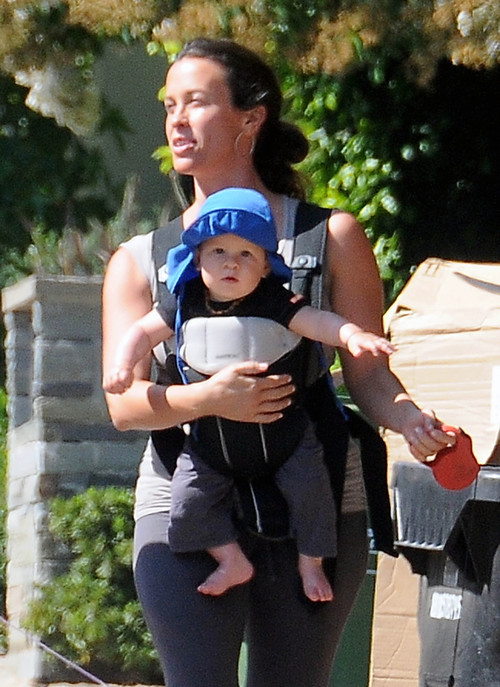 Alanis Morissette Takes A Lovely Stroll With Her Boys